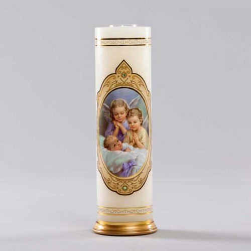 royal candle-two angels beside the cradle
