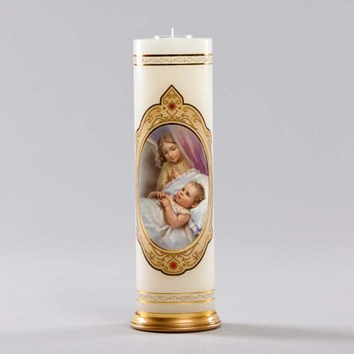 royal candle-an angel beside the cradle