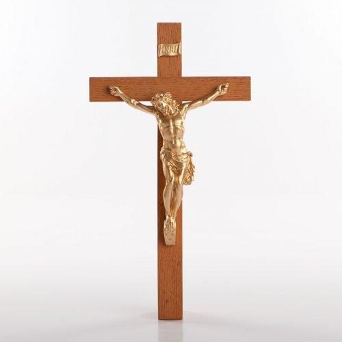 Urethane crucifix gold-coloured