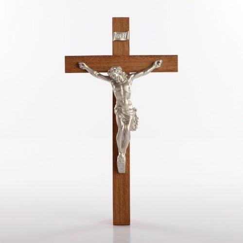 urethane crucifix silver-coloured