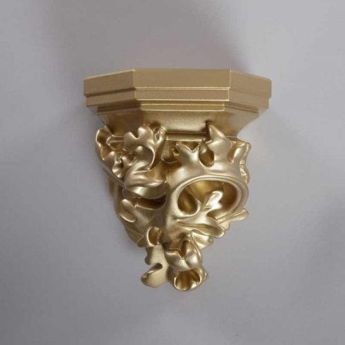 Wall console acanthus gold