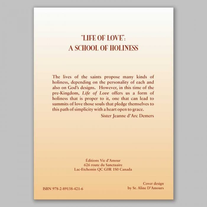 life of love: a school of holiness 11-back cover
