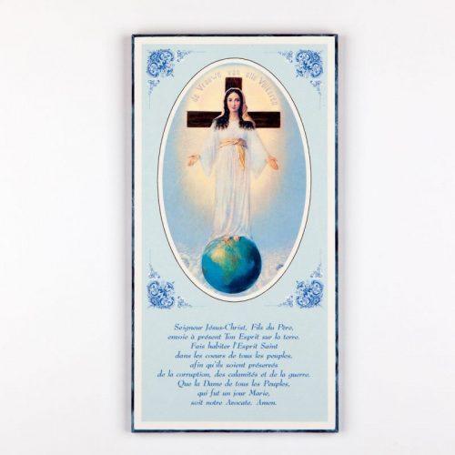 plaquette laminée dame et prière