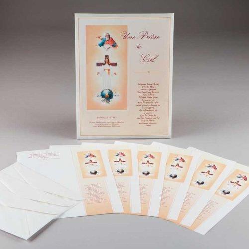 papier à lettres-une prière du ciel