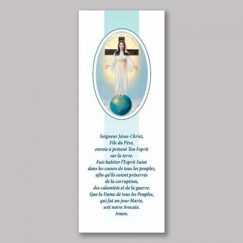 signet-prière de la dame de tous les peuples