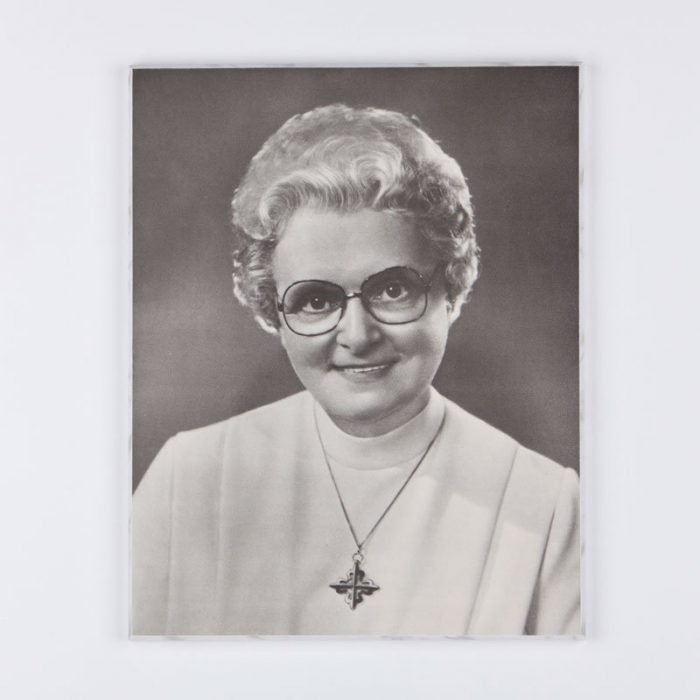 laminated plaque-marie-paule in black and white