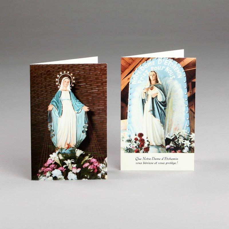 carte mariale-vierge annonciation et notre-dame d'etchemin