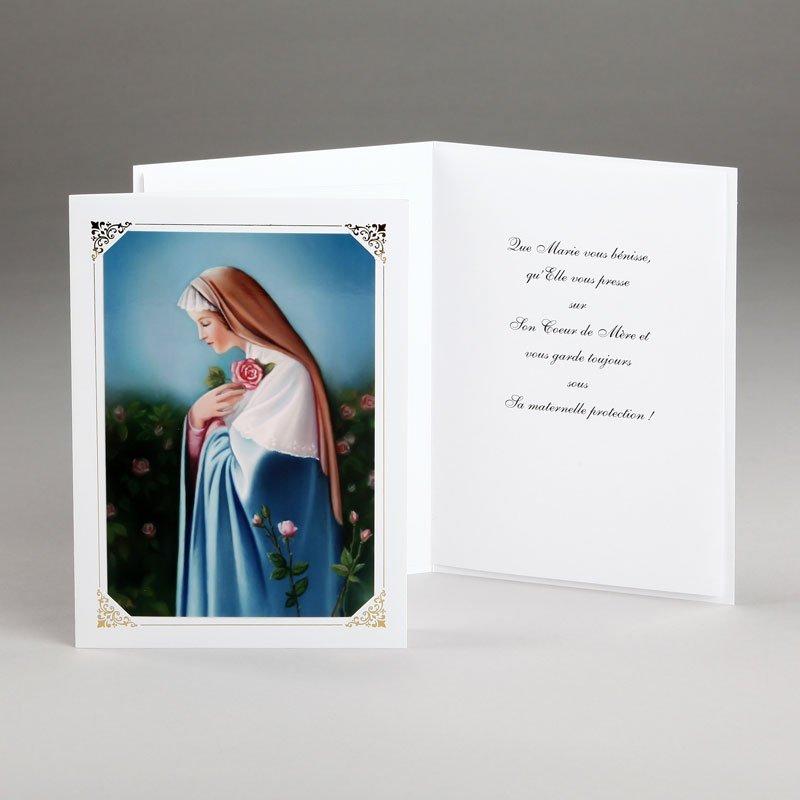 carte mariale marie rose mystique