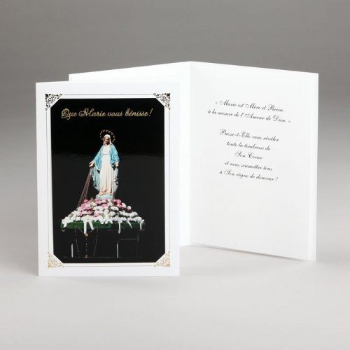 carte mariale trône de l'immaculée