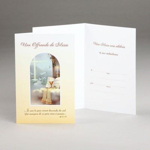 carte offrande de messe-le pain vivant