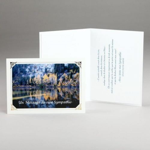 carte sympathies-reflets d'automne