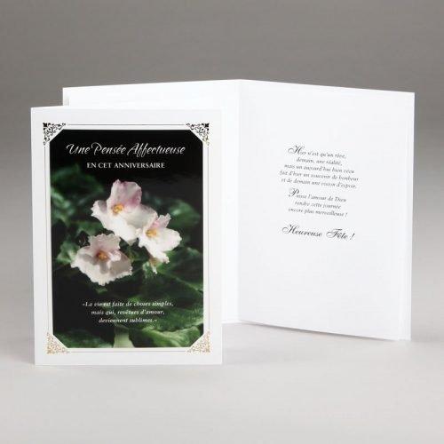 carte anniversaire-violettes blanches