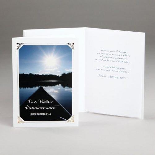 carte anniversaire-lac tranquille