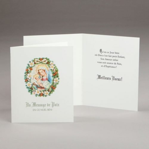 carte de noël-message de paix