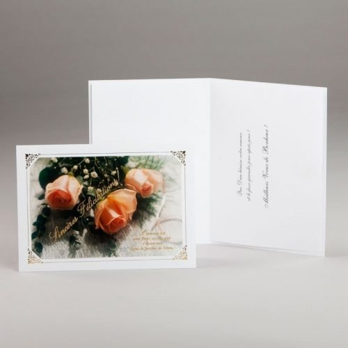 carte fiançailles ou mariage-sincères félicitations
