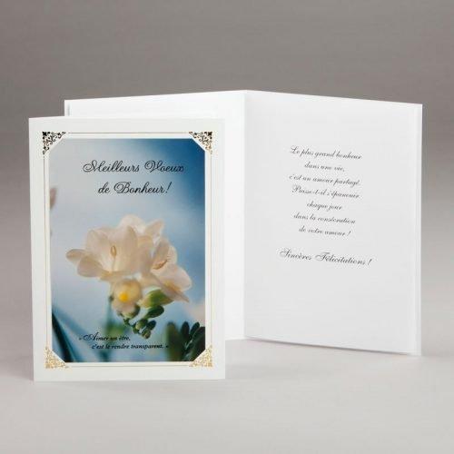 carte fiançailles ou mariage-voeux de bonheur