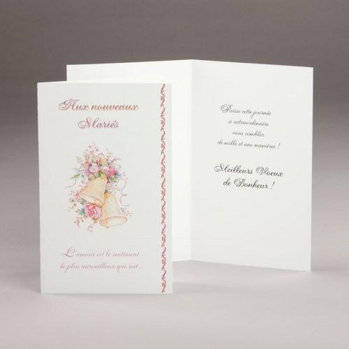 carte fiançailles ou mariage-aux nouveaux mariés