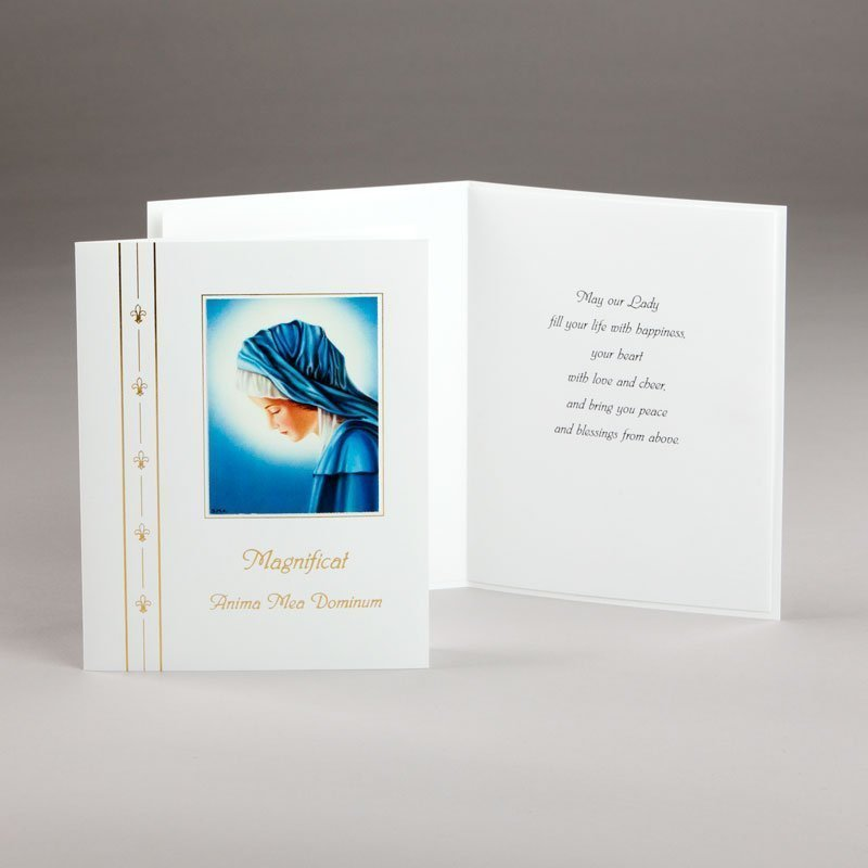 marian card magnificat picture