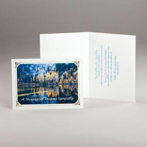 autumn reflections sympathy card