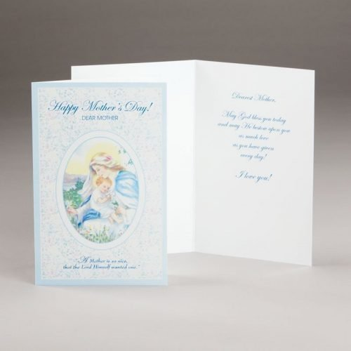 mother's day card-mother mary
