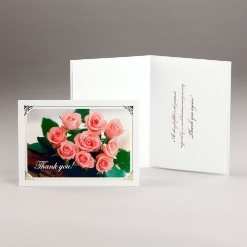 thank you card-bouquet of roses