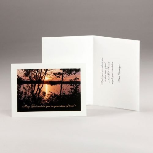 card - a sunset - in times of trial