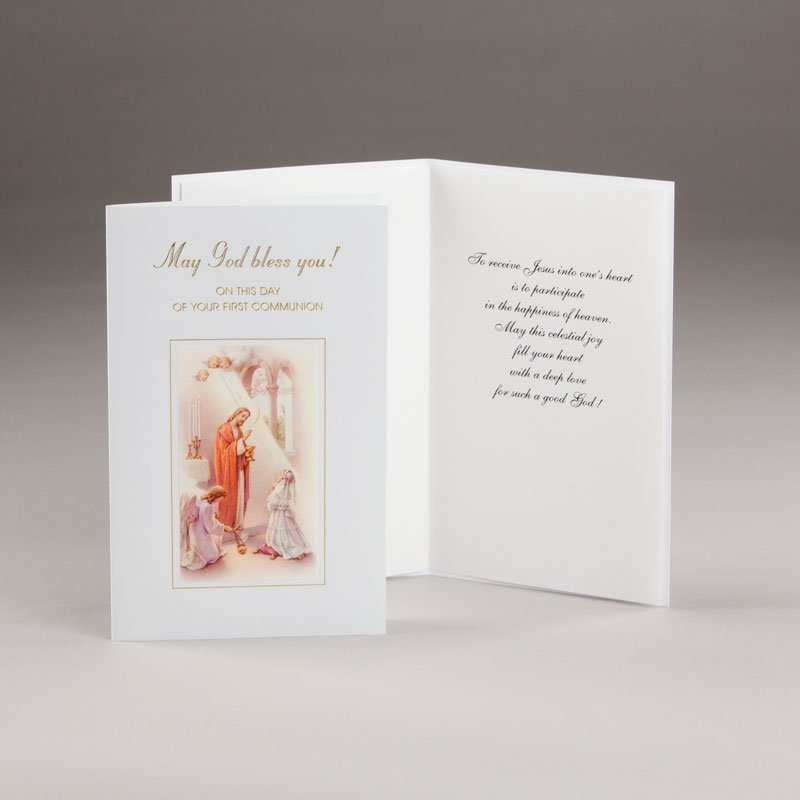 holy communion card-girls-may god bless you