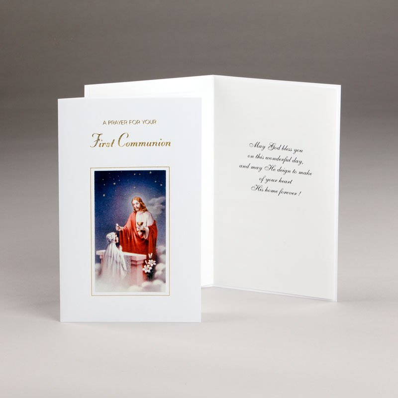 holy communion card-girls-prayer for your communion