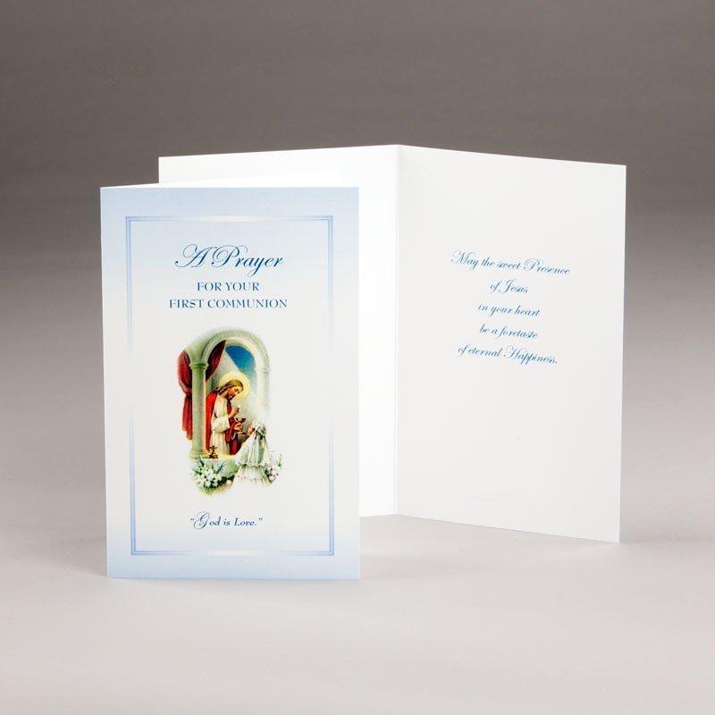 holy communion card-girls-god is love