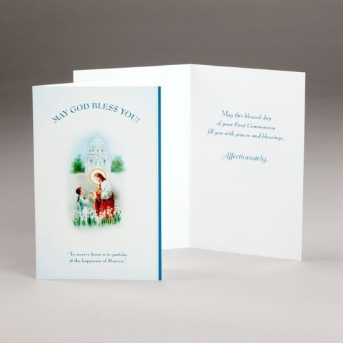 card for holy communion-boys-receiving jesus