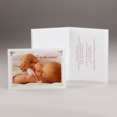 card for a new baby-baby has arrived