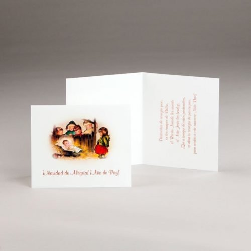 tarjeta de navidad-alegría infantil