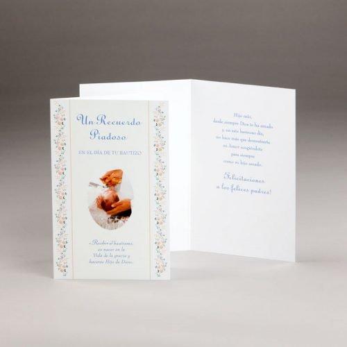 tarjeta bautizo-un recuerdo piadoso en el día tu bautizo