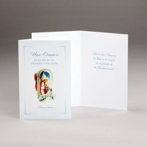 tarjeta comunión-chica-dios es amor
