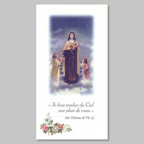 image sainte thérèse de l'enfant-jésus - pluie de roses