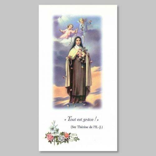 image sainte thérèse de l'enfant-jésus - tout est grâce