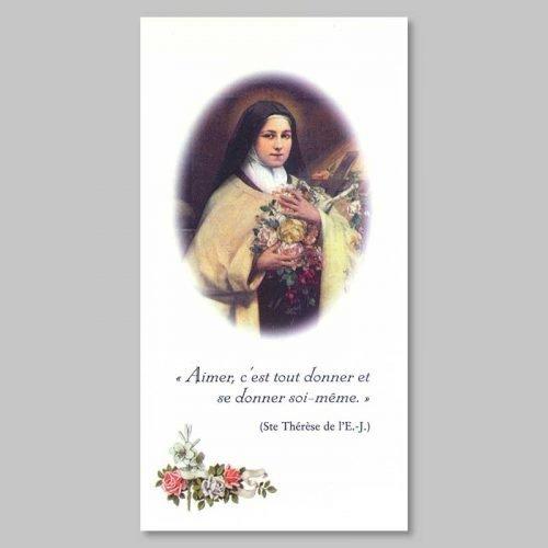 image sainte thérèse de l'enfant-jésus - aimer c'est tout donner