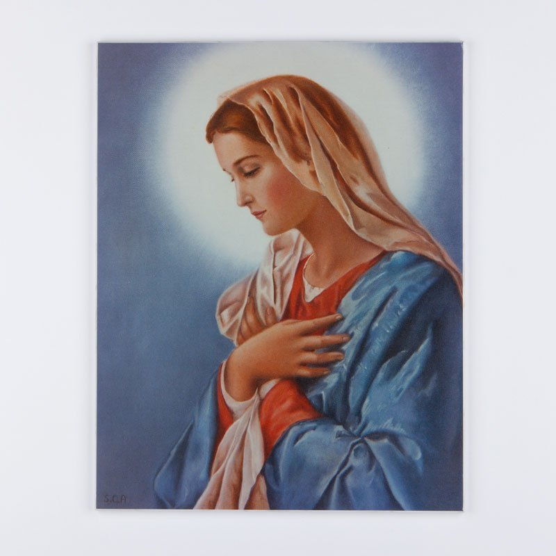 laminated plaque - virgin mary