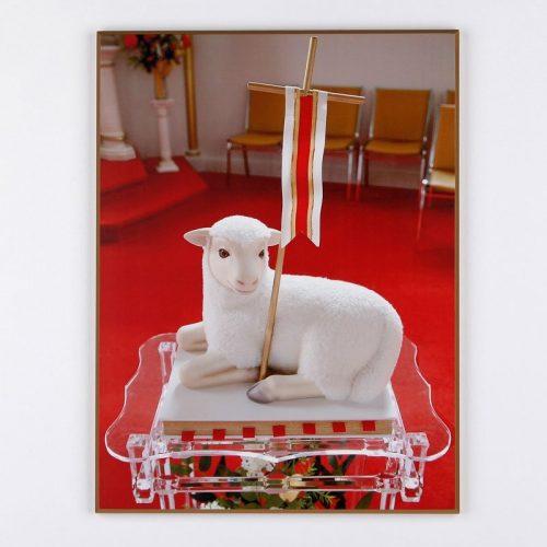 plaquette laminée l'agneau symbole de l'église de jean