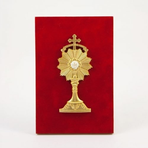 plaque with monstrance