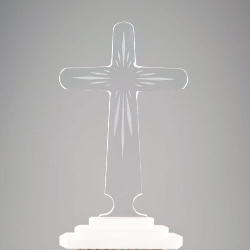 transparent cross with rays