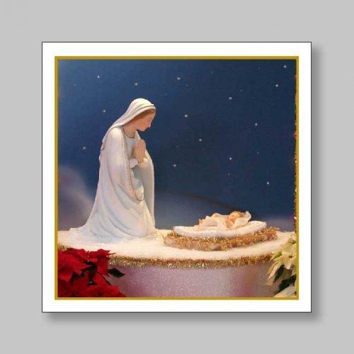 magnetized bookmark - christmas nativity scene