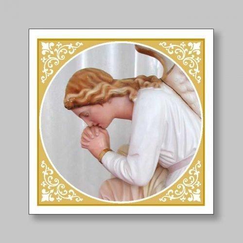 magnetized bookmark - angel in prayer