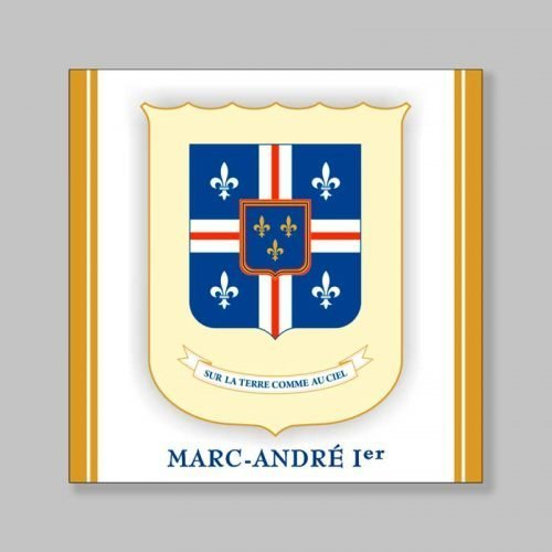 magnetized bookmark - King Marc-André I coat of arms