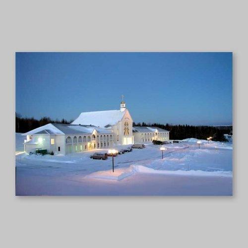 carte postale - spiri-maria au lever du jour (hiver)