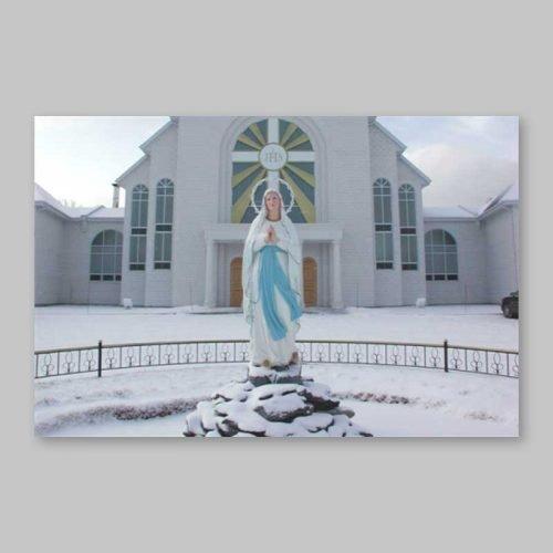 carte postale - l'immaculée sous la neige
