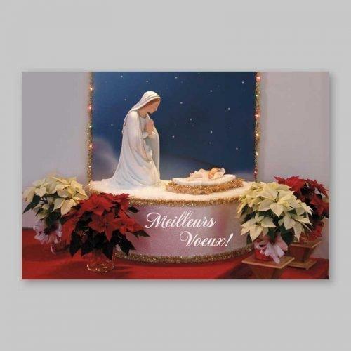 carte postale - l'immaculée et l'enfant-dieu