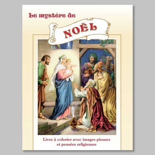 livre à colorier - le mystère de noël