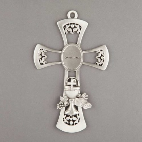 first communon pewter cross