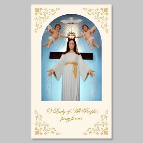 holy picture - lady of all peoples and angels